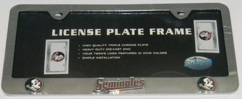 Florida State Seminoles 3-D Chrome Plated Metal License Tag Frame (NCAA)