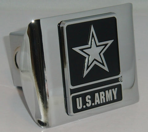 U.S. Army Shiny Chrome Metal Hitch Cover (Army Star) Licensed