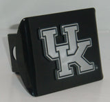 "Kentucky Wildcats Chrome Metal Black Hitch Cover (""UK"") NCAA"