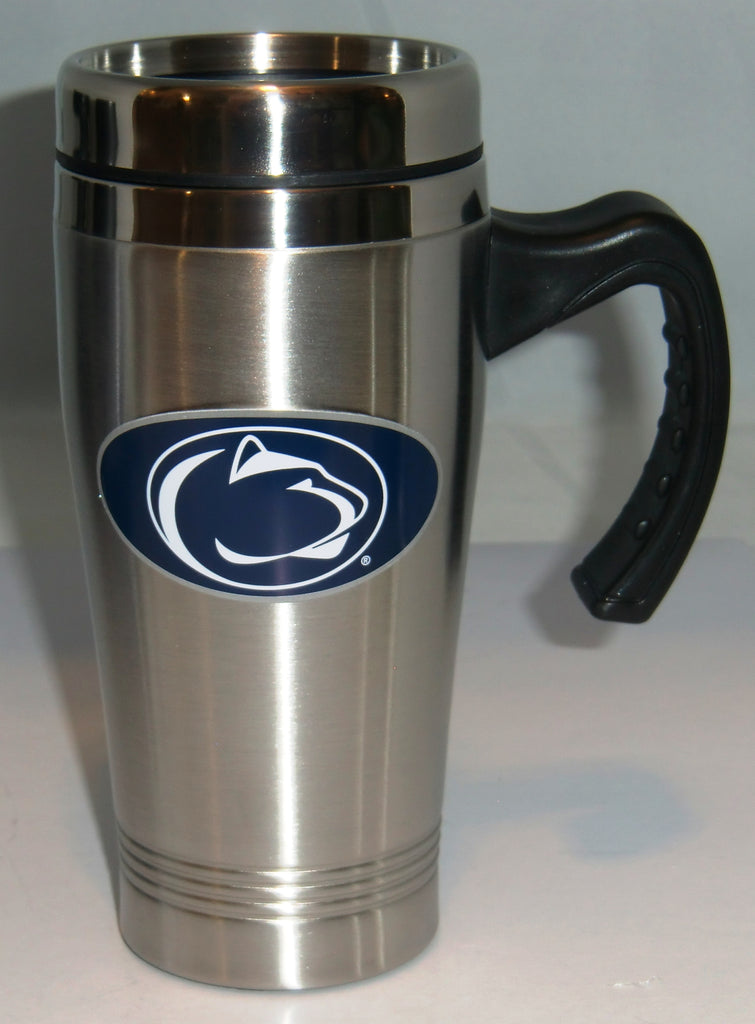 Penn State Nittany Lions 14 oz Stainless Steel Travel Mug with Handle (NCAA)