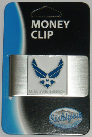 U.S. Air Force Stainless Steel Money Clip (Military)