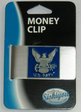 U.S. Navy Stainless Steel Money Clip (Military)