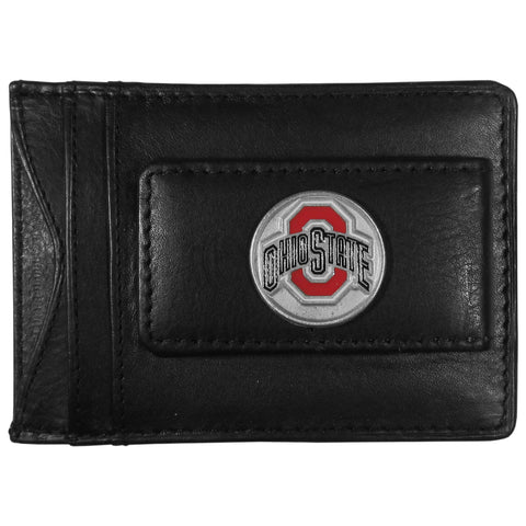 Ohio State Buckeyes Leather Money Clip Card & Cash Holder NCAA (Round)