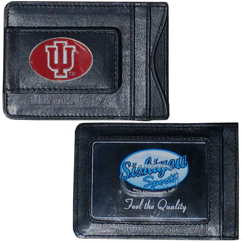 Indiana Hoosiers Fine Leather Money Clip (NCAA) Card & Cash Holder