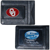 Oklahoma Sooners Fine Leather Money Clip Card & Cash Holder (NCAA)