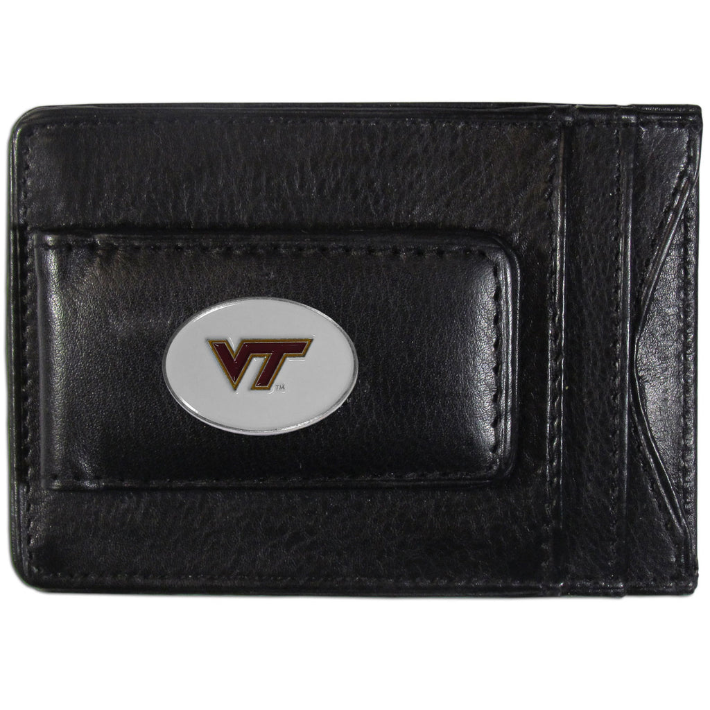 Virginia Tech Hokies Fine Leather Money Clip (NCAA) Card & Cash Holder