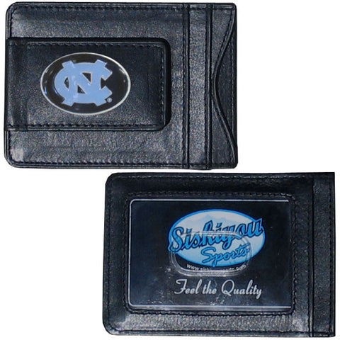 North Carolina Tar Heels Fine Leather Money Clip (NCAA) Card & Cash Holder