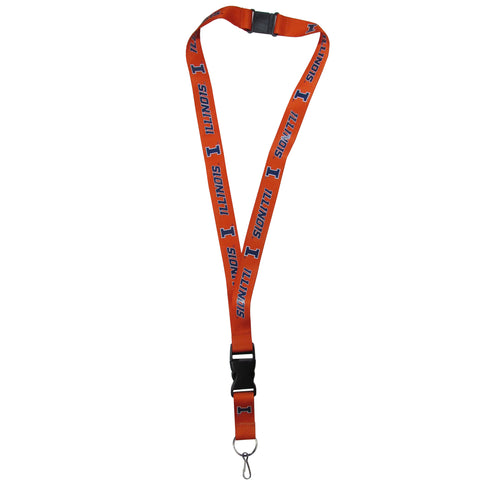 "Illinois Fighting Illini 21"" Lanyard Key Chain NCAA"