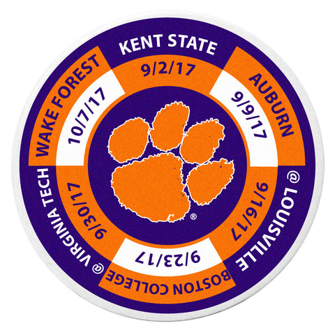 Clemson Tigers 2017 Football Schedule Golf Ball Marker Coin (NCAA)