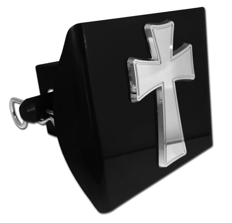 Cross Black Plastic Hitch Cover (Tapered)