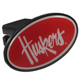 Nebraska Cornhuskers Durable Plastic Oval Hitch Cover NCAA Licensed