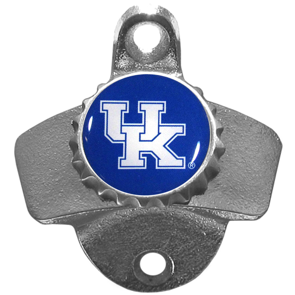 "Kentucky Wildcats Wall Mount Bottle Opener (NCAA) White ""UK"""