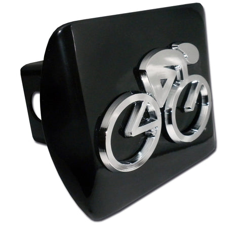 Cycling Chrome Metal Black Hitch Cover (3-D)