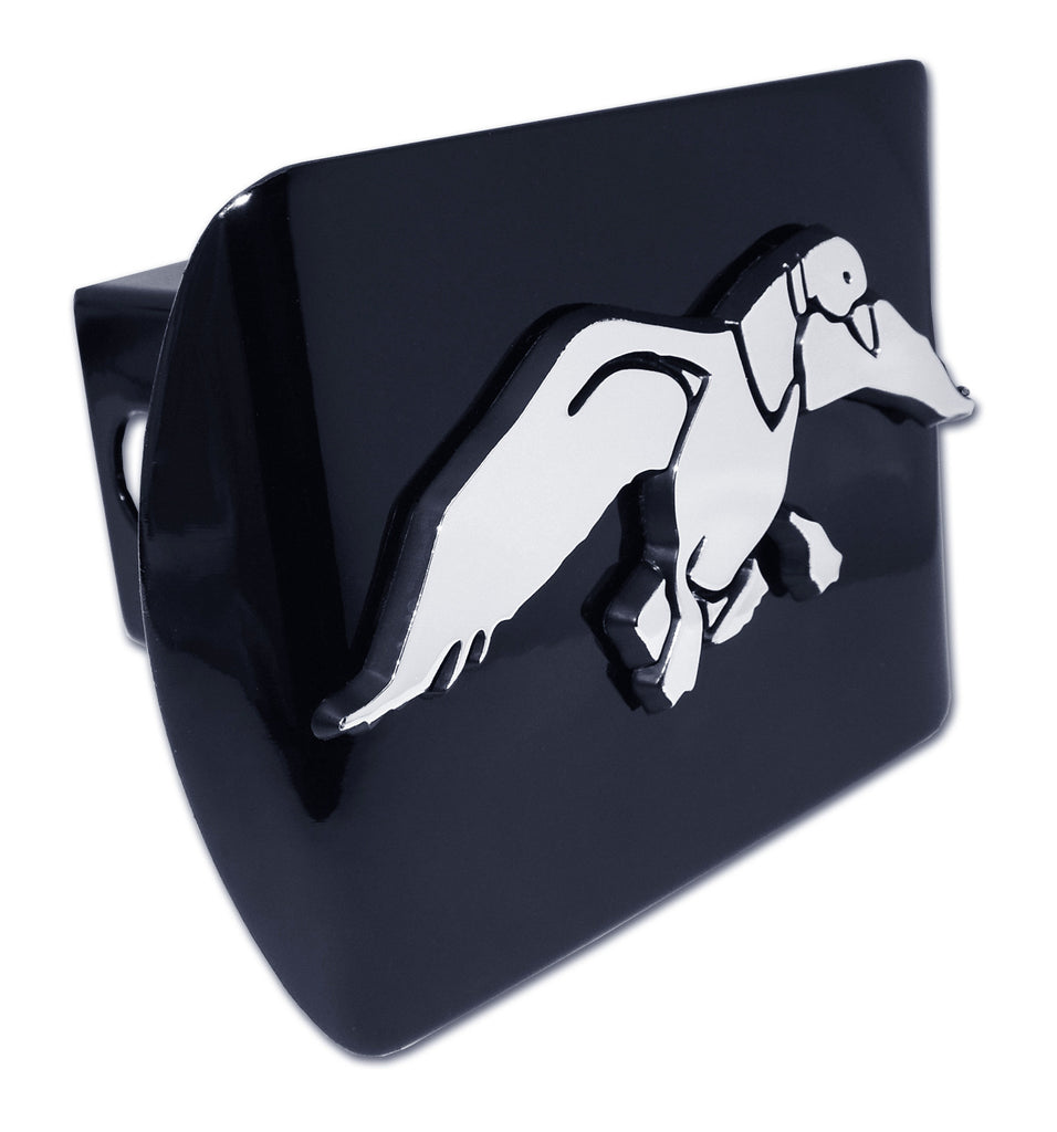 Duck Commander Chrome Metal Black Hitch Cover (Duck Cutout)
