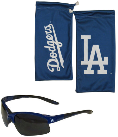 Los Angeles Dodgers Blade Sunglasses With Microfiber Bag (MLB)