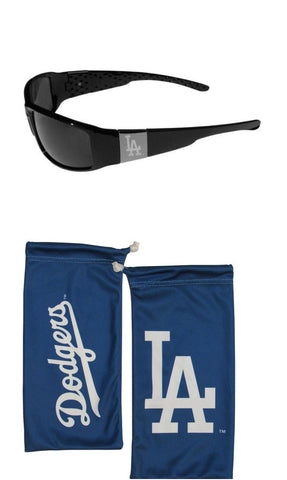 Los Angeles Dodgers Chrome Wrap Sunglasses with Microfiber Bag (MLB)
