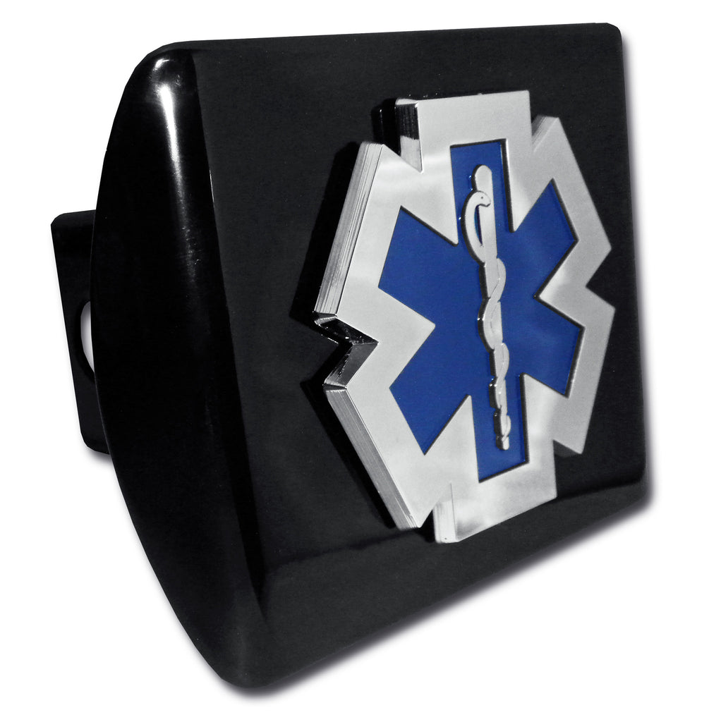 EMS Chrome Metal Black Hitch Cover (Occupational)