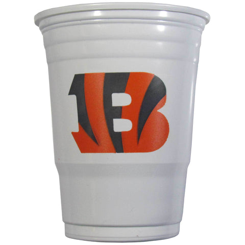 Cincinnati Bengals 24 count 18 oz Disposable Plastic Cups (White) (NFL)