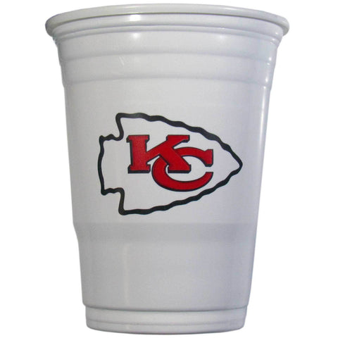 Kansas City Chiefs 24 count 18 oz Disposable Plastic Cups (White) (NFL)