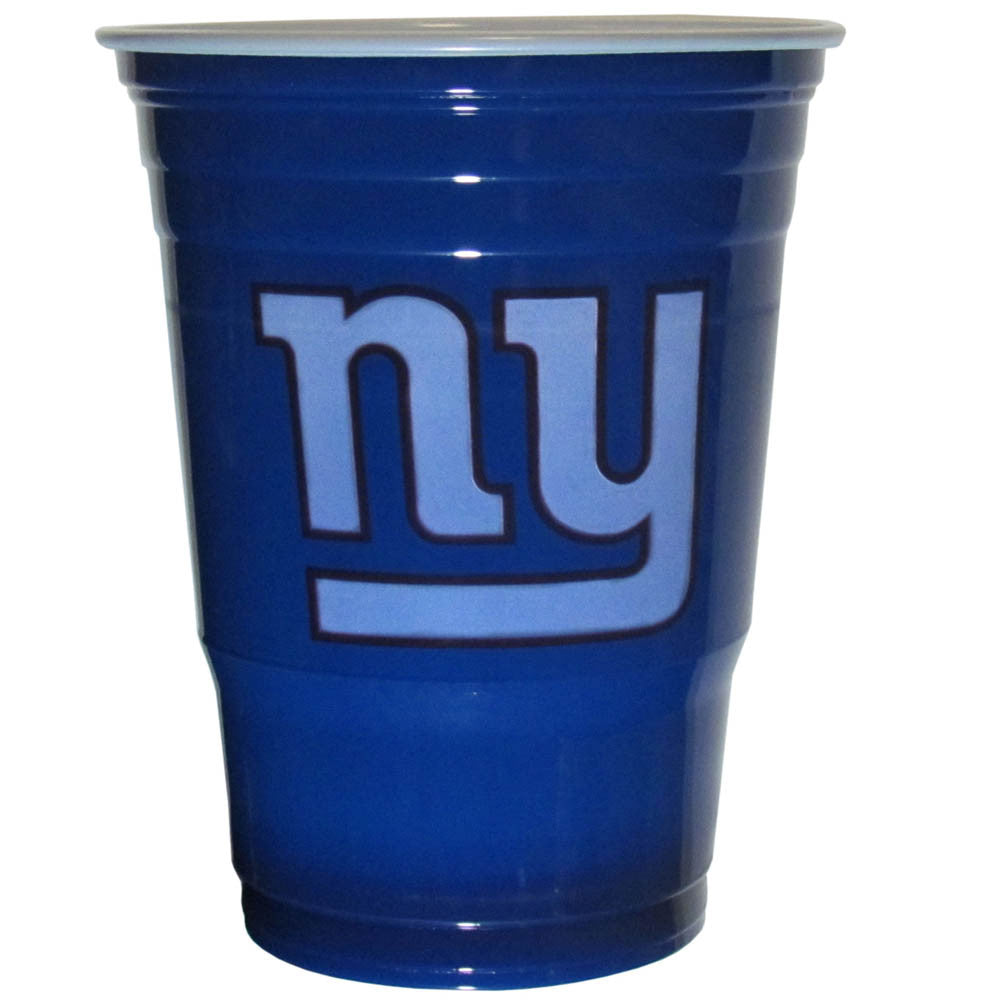 New York Giants 18 count 18 oz Disposable Plastic Cups (NFL)