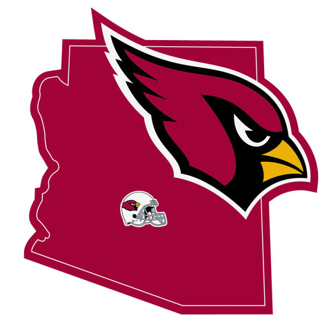 Arizona Cardinals Home State Vinyl Auto Decal (NFL) Arizona Shape