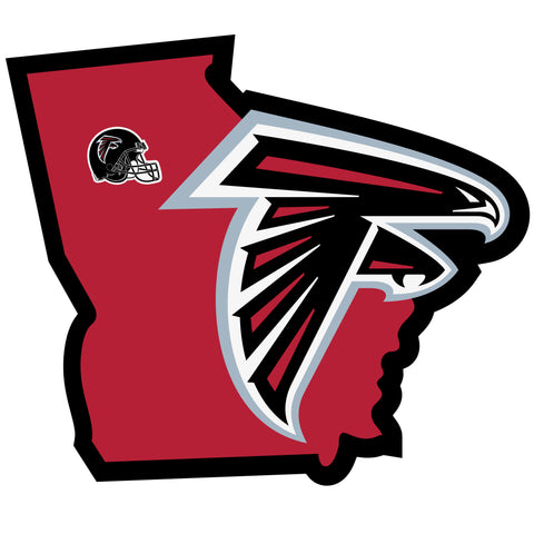 Atlanta Falcons Home State Vinyl Auto Decal (NFL) Georgia Shape