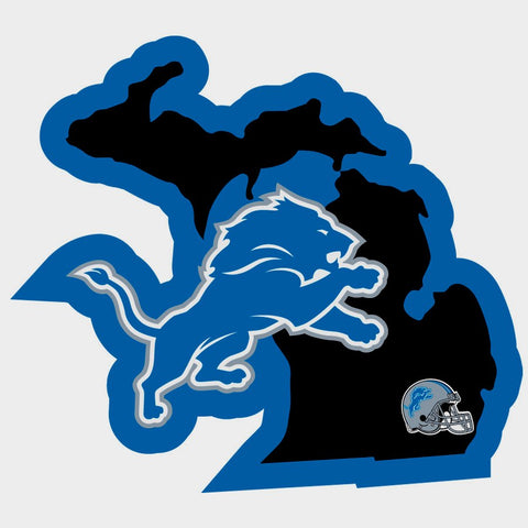 Detroit Lions Home State Vinyl Auto Decal (NFL) Michigan Shape