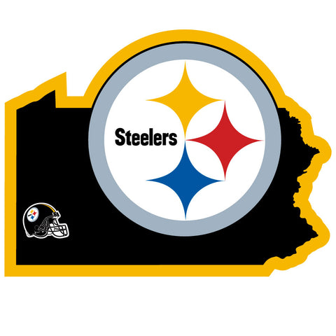 Pittsburgh Steelers Home State Auto Decal (NFL) Pennsylvania Shape