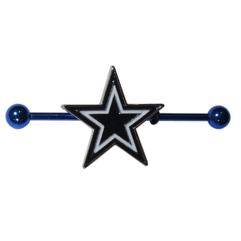 Dallas Cowboys Stainless Steel Industrial Slider Barbell NFL