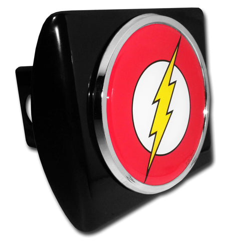 Flash Chrome Metal Black Hitch Cover (Seal) DC Comics