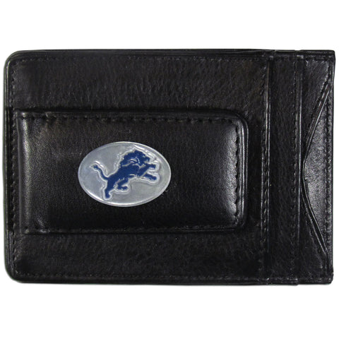 Detroit Lions Fine Leather Money Clip (NFL) Card & Cash Holder