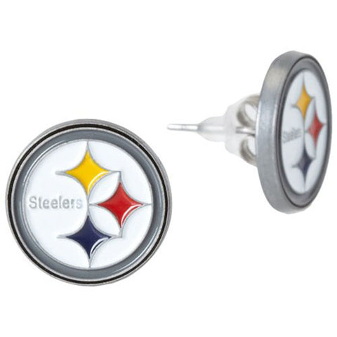 Pittsburgh Steelers Stud Earrings (Logo) NFL