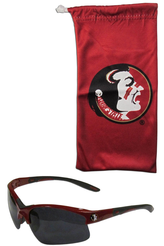Florida State Seminoles Blade Sunglasses With Microfiber Bag (NCAA)