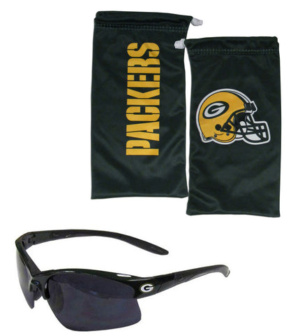 Green Bay Packers Blade Sunglasses with Microfiber Bag (NFL)