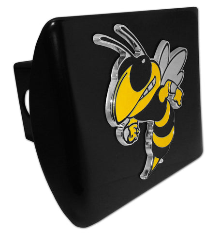 Georgia Tech Yellowjackets Chrome Metal Black Hitch Cover (Buzz) NCAA