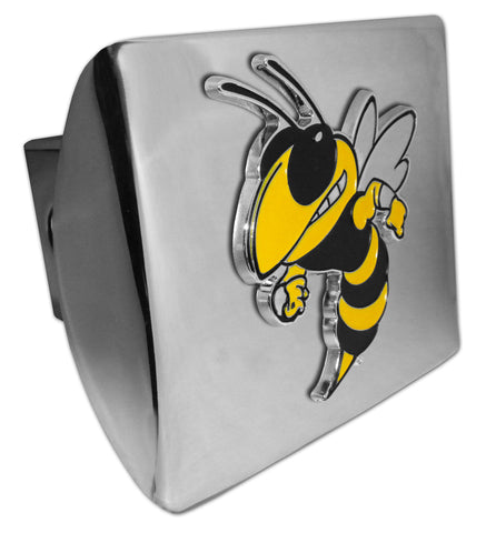 Georgia Tech Yellowjackets Shiny Chrome Metal Hitch Cover (Buzz) NCAA