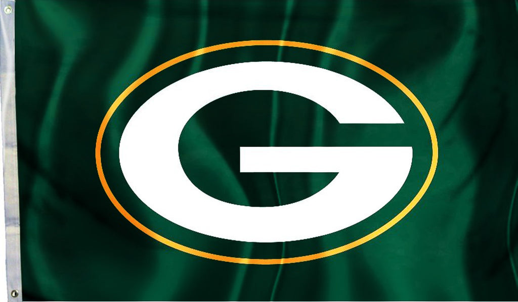 Green Bay Packers 3' x 5' Flag (Logo Only on Green) NFL