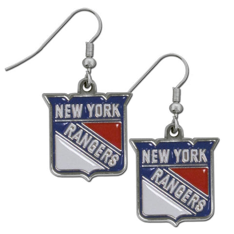 New York Rangers Dangle Earrings (Chrome) NHL