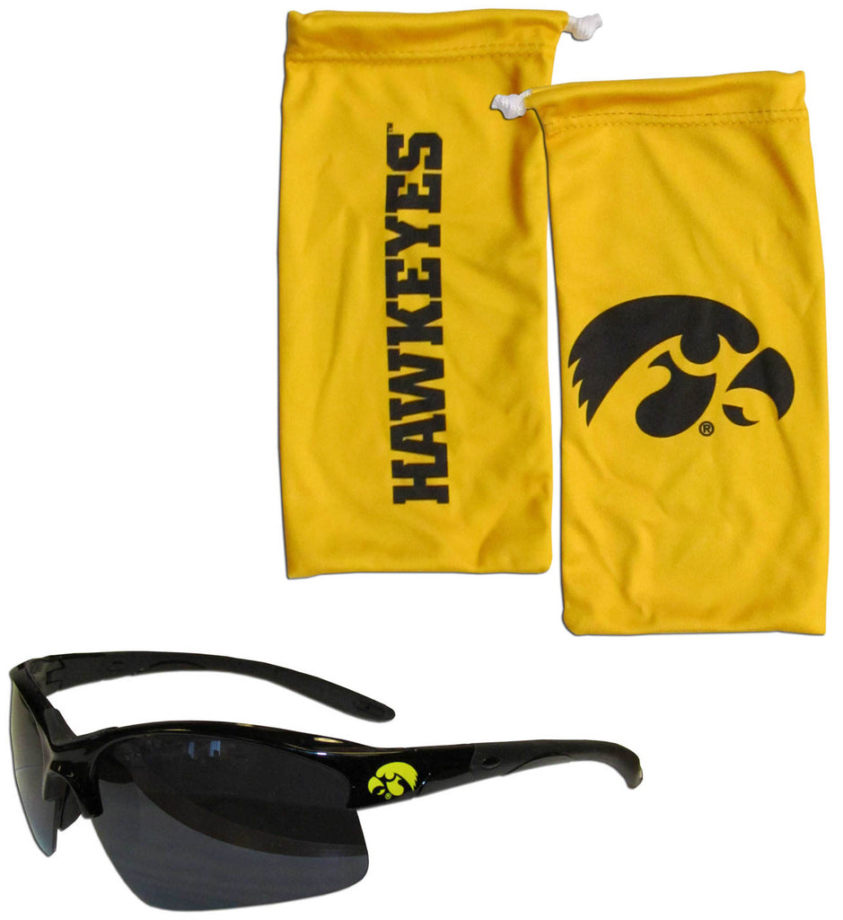 Iowa Hawkeyes Blade Sunglasses With Microfiber Bag (NCAA)