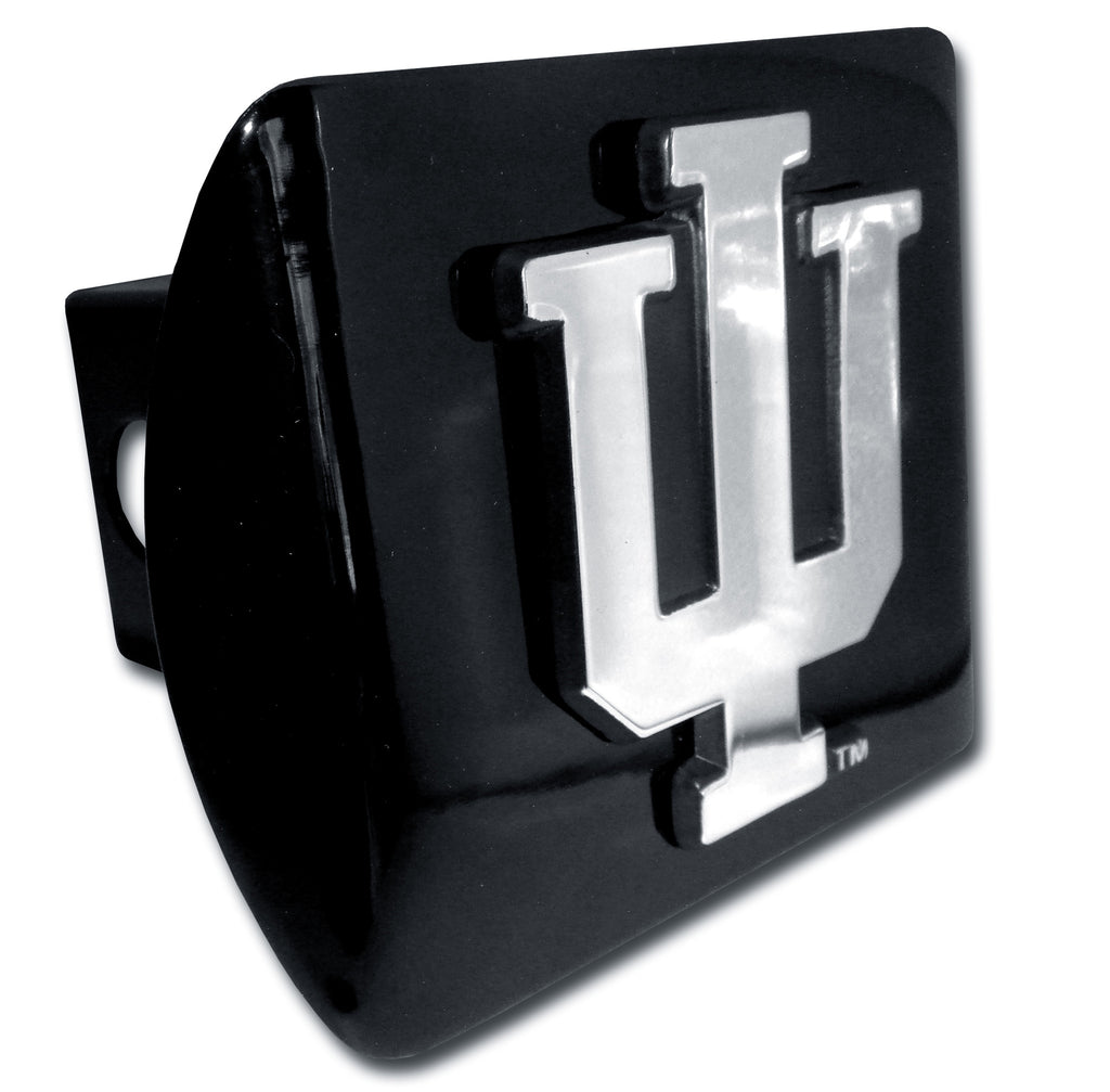 "Indiana Hoosiers Chrome Metal Black Hitch Cover (""IU"") NCAA"