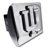 "Indiana Hoosiers Shiny Chrome Metal Hitch Cover (""IU"") NCAA"