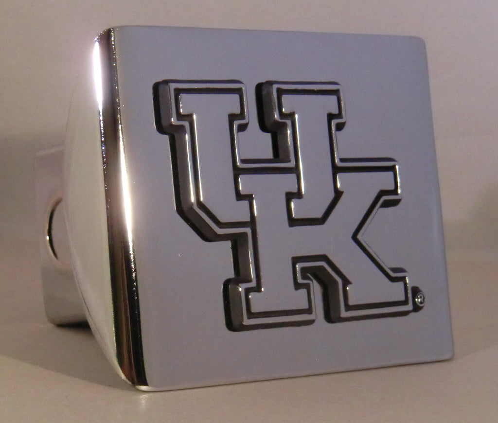"Kentucky Wildcats Shiny Chrome Metal Hitch Cover (""UK"") NCAA"