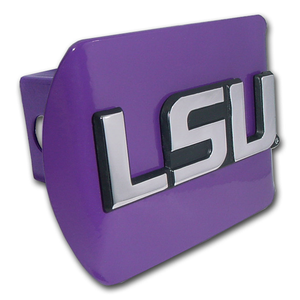 "LSU Tigers Chrome Metal Purple Hitch Cover (""LSU"") NCAA"