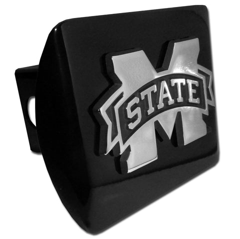 "Mississippi State Bulldogs Chrome Metal Black Hitch Cover (""M"" State) NCAA"