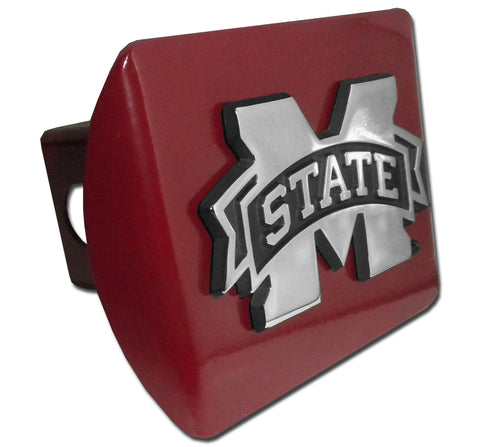 "Mississippi State Bulldogs Chrome Metal Maroon Hitch Cover (""M"" State) NCAA"