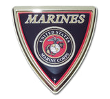 U.S. Marine Corps Chrome Metal Auto Emblem (Shield) USMC Licensed
