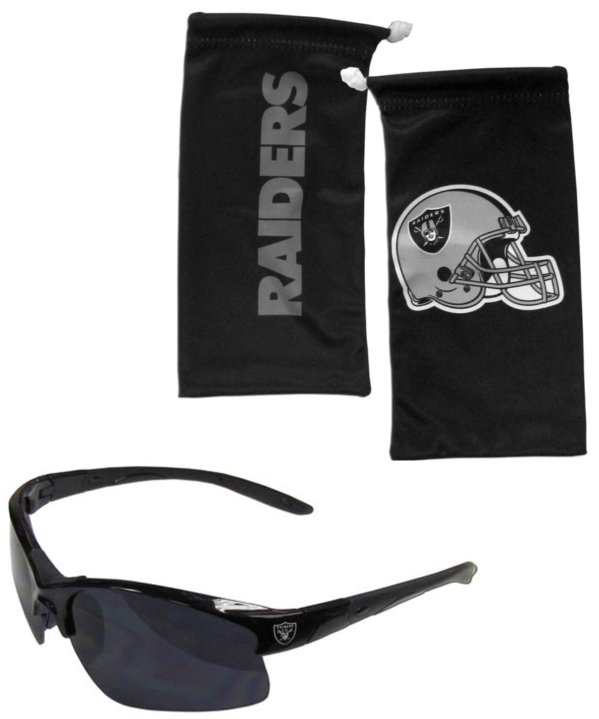 Oakland Raiders Blade Sunglasses with Microfiber Bag (NFL)