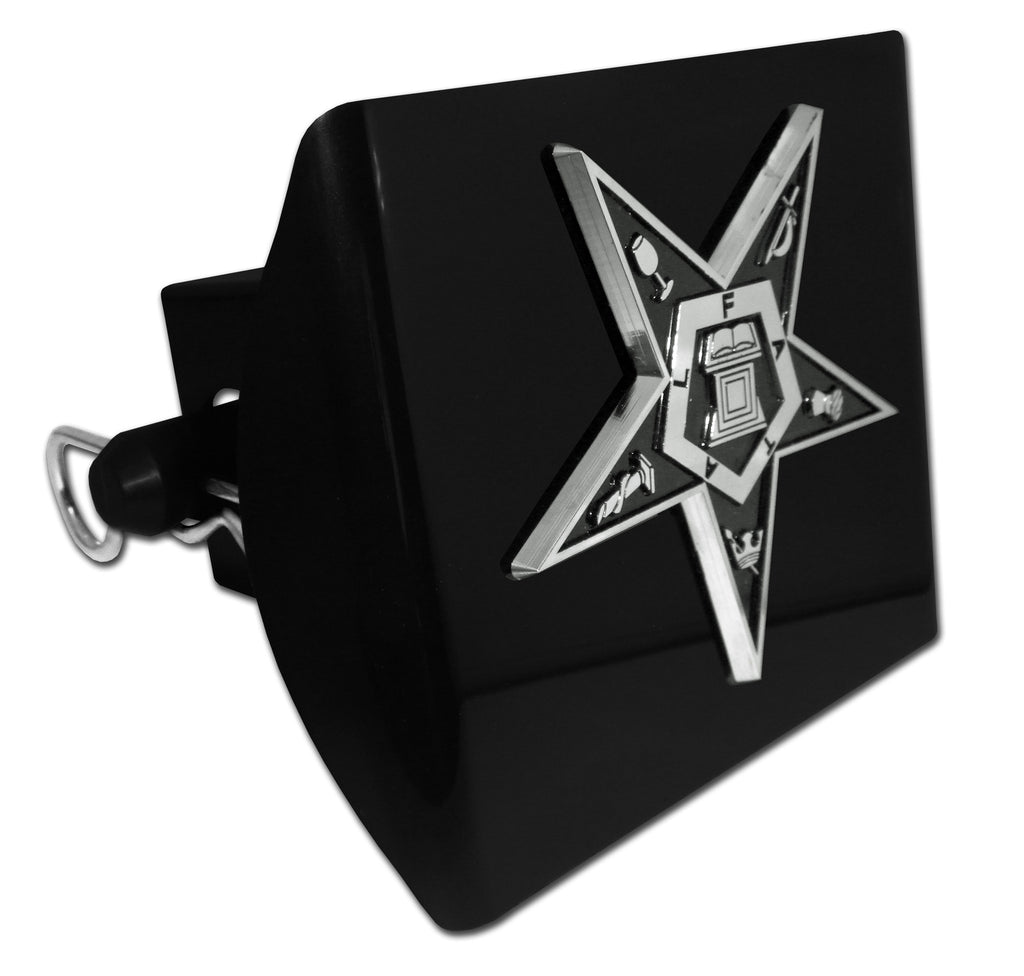 Masonic Black Plastic Hitch Cover (Eastern Star)