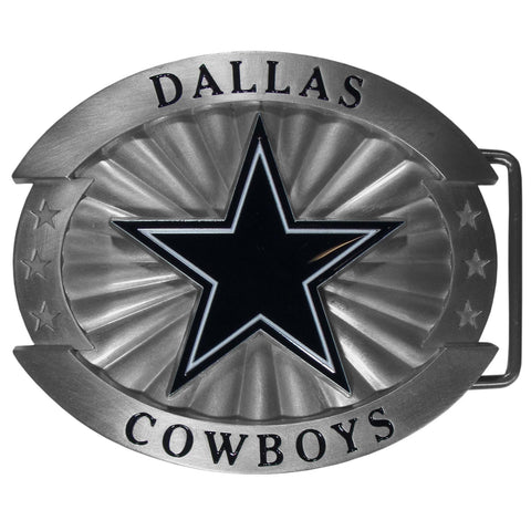 "Dallas Cowboys Over-sized 4"" Pewter Metal Belt Buckle (NFL)"