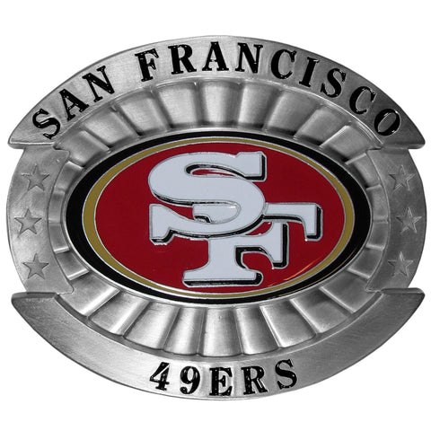 "San Francisco 49ers Over-sized 4"" Pewter Metal Belt Buckle (NFL)"